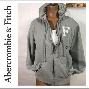 🏈NEW ABERCROMBIE GREY HOODIE MEDIUM 🏈